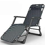 AZHLUF Tumbona Plegable sillas Playa Sillas Camping Silla de Jardín Ajustable Reposacabezas, para Jardín, Piscina, Playa, Picnic, Oficina (Color : Black)