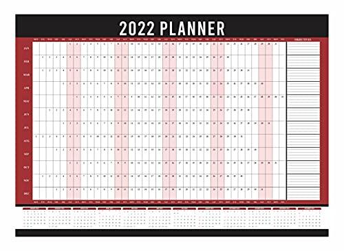 2022 Wall Planner A1 Size Year Calendar Organiser Runs Jan To Dec Student...