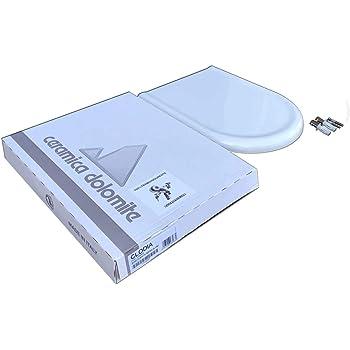 Sedile Wc Dolomite Clodia Originale.Copriwater Dolomite Clodia Originale In Termoindurente Cerniere Inox Codice J104900 Colore Bianco Amazon It Fai Da Te
