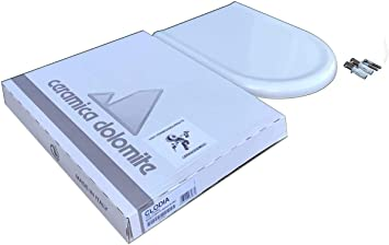 Copriwater Dolomite Clodia Originale In Termoindurente Cerniere Inox Codice J104900 Colore Bianco Amazon It Fai Da Te