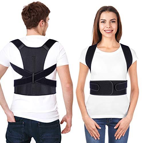 Rücken Geradehalter, Ohuhu Haltungskorrektur mit verstellbarer für Männer und Frauen, ideal zur Therapie für Haltungskorrektur Rücken, Nacken und Schulterschmerzen - XL