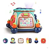 TUMAMA 6-in-1 Baby Activity Cube Musical Drum Instruments with Lights and Sounds, Learning