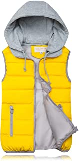 iHHAPY Women's Quilted Vest Winter Vest Warm Quilted Vest Padded Vest Sleeveless Jacket Hooded Autumn Hooded Jacket