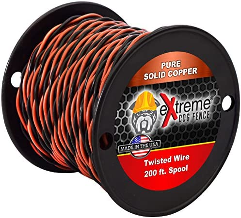 14 Gauge Solid Core Heavy Duty Professional Grade Twisted Dog Fence Wire - Compatible with All Brands