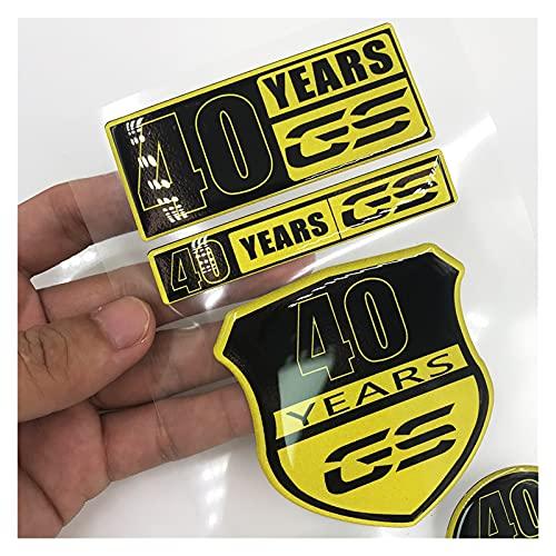 Pegatina de la almohadilla de tracción del tanque 40 aniversario 40 años GS edición especial 2019 2020 protección de almohadilla de depósito de motocicleta de resina 3D para B-M-W Motorrad F750GS F850