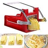 Cortador de patatas multifuncional, cortador de frutas, verduras y alimentos, cortador de cocina, cortador de freír francés, máquina de cortar con 2 tamaños de cuchillas de cortador