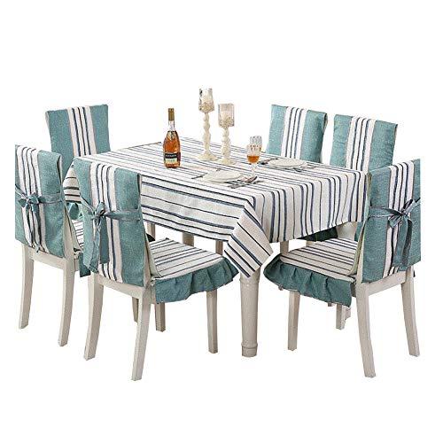 Shaoyao Tischdecke,Dekorative Staubdichte Tischtuch, Mehrweg, Geeignet für Esstisch, Couchtisch, Quadratischer Tisch Peacock Blue B 130 * 130