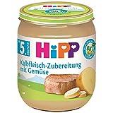 Hipp Fleischzubereitungen, Kalbsfleischzubereitung mit Gemüse, 6er Pack (6 x 125 g)