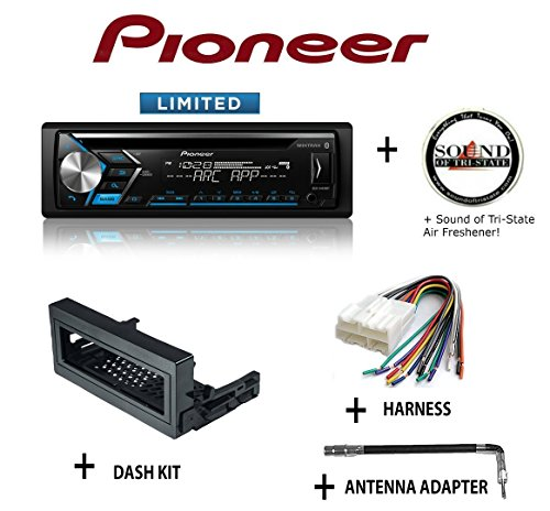PIONEER DEH-S4010BT CD Receiver + Best Kit BKGMK345 Dash Kit + BHA1858 Harness + BAA4 Antenna Adapter + SOTS Air Freshener