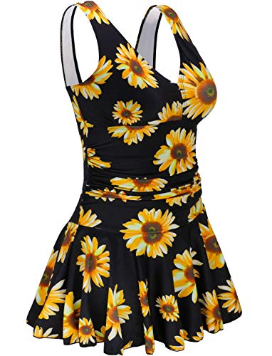 Swimming Costumes for Women's Removable Padding Shaping Body Swim Dresses 3X Vintage Swimsuit Plus Size Skirts