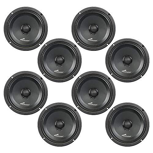 """Audiopipe 8"""" 250W Low Mid Frequency Midwoofer Car Audio Loudspeaker Set (8 Pack)"""