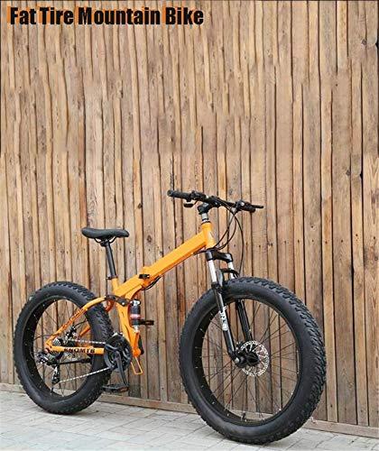 Bicicleta de carretera de la ciudad de cercanías, Plegable de 17 pulgadas for hombre Fat Tire Bicicleta de montaña, Bicicletas Marco doble freno de disco de acero de alto carbono /, 7-27 velocidad, mo