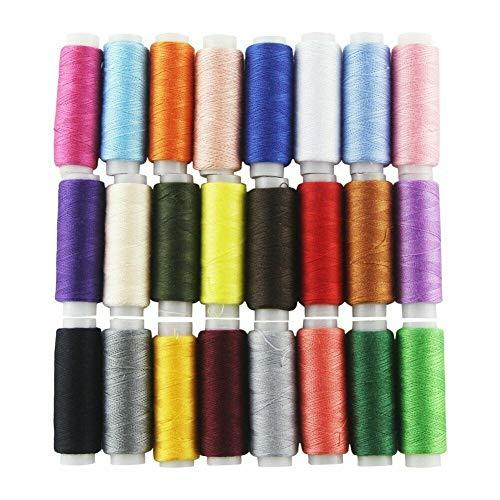 12 bobinas de hilo de coser de 228 metros, multiusos, de poliéster, surtido de bobinas...