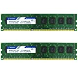 Timetec Hynix IC DDR3 PC3-10600 Non ECC Unbuffered 1.35V/1.5V Dual Rank 240 Pin UDIMM Desktop Memory Upgrade (8GB Kit (2x4GB))