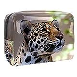 Neceseres de Viaje Manchas de Leopardo Portable Make Up Bags Neceser de Práctico Bolsa de Lavado de Baño Viajes Vacaciones Fiesta Elementos Esenciales 18.5x7.5x13cm