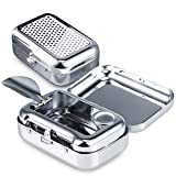 Cendrier de Poche Anti Odeur, JPYH Cendrier Portable, Cendrier Voiture,Mini Acier Inoxydable...