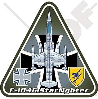 F-104 Starfighter Germany Lockheed-MBB F-104G German Air Force Luftwaffe, Messerschmitt-Bölkow-Blohm 95mm Vinyl Sticker, Decal