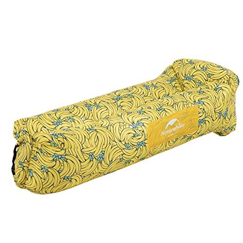 Naturehike Air Lounger, Wasserdichtes Luft Sofa mit Portable Paket, Lazy Lounger Aufblasbares Sofa Air Bett für Reisen, Camping, Pool und Beach Parties(Banane)