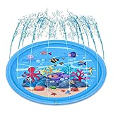 mafiti Sprinkler for Kids Splash Pad Wading Pool for Learning Gaming Children's Sprinkler Pool, Outdoor Swimming Pool for Kids Dogs Summer Gifts