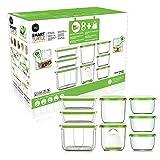 FOSA Starter Kit breveté d'emballage sous vide domestique, récipient compact et récipients Premium (1 Turtle + 8 récipients ronds et rectangulaires)