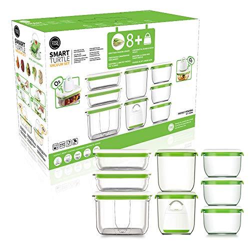 FOSA Home Starter Kit Barcelona. Envasadora al vacío compacta + 8 recipientes Redondos y rectangulares