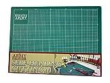 The Army Painter tapete de corte autorreparable de doble cara de PVC antideslizante  3 capas cuadriculado en miniatura y tabla de cortar modelo, tamao A4