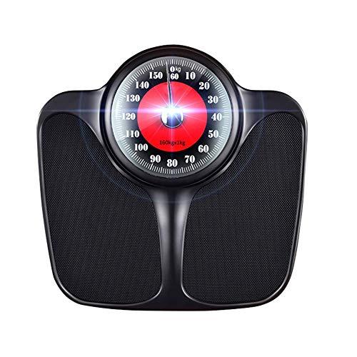 ZDY Báscula de baño de Peso Corporal de 350 LB, báscula de precisión con dial mecánico analógico y Plataforma Antideslizante Extragrande, sin botón/batería, para el hogar/Oficina/Dormitorio.