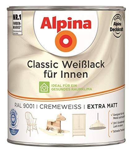 Alpina Classic Weißlack für Innen Cremeweiß extra matt 0,75 Liter