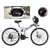 ZYC-WF Bicicletas eléctricas plegables para adultos Bicicletas cómodas Bicicletas reclinadas/de carretera híbridas Neumáticos de 26 pulgadas Bicicleta eléctrica de montaña Motor de 500 W Cambio de
