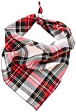 Pet Pooch Boutique Alfies Plaid Bandana per Cani, Medium/Large, Rosso...