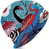 Mamihong Gorro de Dormir Sombrero de Punto Princesa y Caballeros Creativo Infantil Lindo Héroe Bo CAP-2683