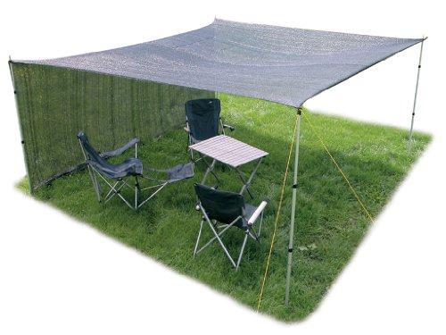 4x4 Meter Garten Camping Schattentuch Sandkasten Sonnenschutz halbdurchlässig