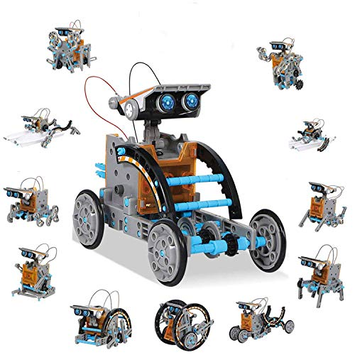 WANGGOOH STEM Toys 12-in-1 Education Solar Robot Toys Building Science Toys Kits for Kids Age 8-12 Idea Gift for 8 9 10 11 12 Year Old Boys Girls