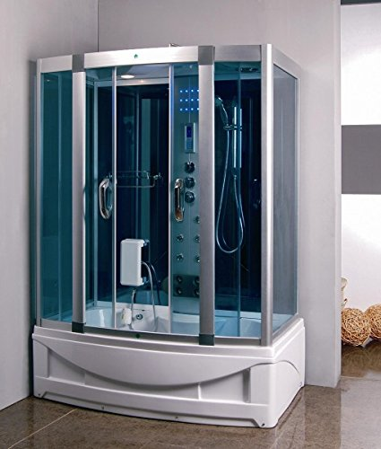 Luxury KBM 9001 Bathtub, Steam Shower Room Enclosure 60 x 35, Home SPA, 6 Body massage Jets,...