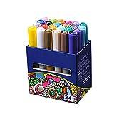 miju 24 Color Arte Marker Pen Set Dibujo Rotulador con Diseño De Animación Diseño Interior Y Estudiante Nueva Generación De Marcadores De Doble Punta para Suministros De Pintura Y Dibujo Cool