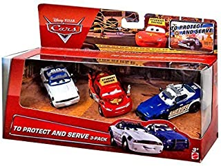 To Protect & Serve Multipack with Driving School Lightning Mcqueen, Mike 07 and Didi 05 1:55 Scale Diecast Cars Mattel by Disney