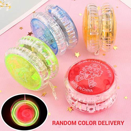 Borstu Yo-yos Ball Spielzeug Kinder blinkende LED Jo-Jo Spiel für Kinder Kinder Geschenke Party Supply Zufällige Farbe