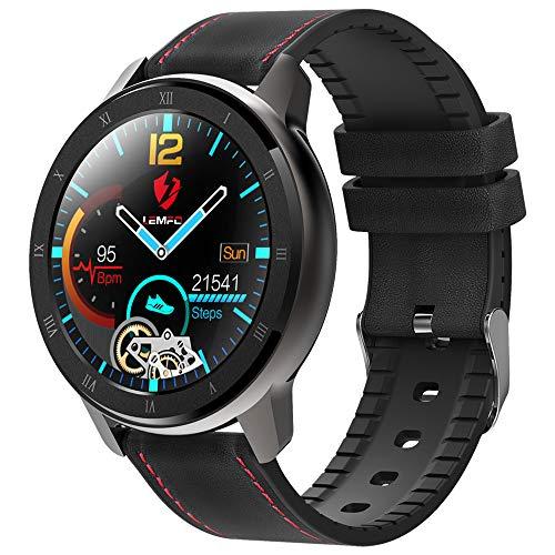 HBRT Bluetooth 5.0 Smart Watch, PPG + EKG-Überwachung Armband stabile Datenübertragung Mehr Energiesparmodi für Männer Frauen Alt