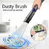 Dust Bürste Universal, POAO 30-35mm Staubsaugeraufsatz Pinsel Staubsaugerbürste Reinigungswerkzeuge für Air Vents, Tastaturen, Schubladen, Auto, Pflanzen (Blau)