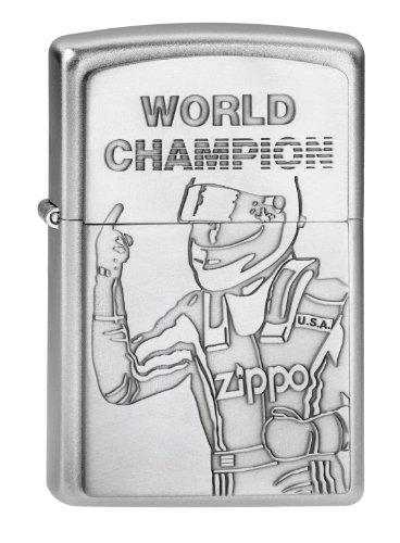 Zippo Zippo Feuerzeug 2002949 World Champion Emblem Benzinfeuerzeug, Messing Chrome