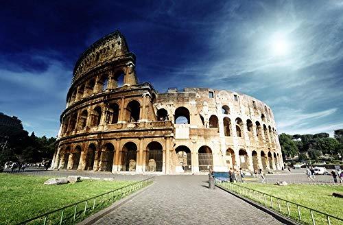 MAIYOUWENG Erwachsenenpuzzle Jigsaw Puzzle Holz Puzzle 1000 Teile - Colosseum Architekturmuster - Spielset Puzzle,Unterhaltsame Für Jung und Alt Spaßige