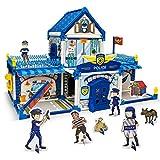 Gibot 3D Puzzle Polizeistation Architektur Modell Puzzle DIY Umweltschutz ungiftig Graffiti Montage Kinder Spielzeug,Geburtstags und Weihnachts Geschenk für Kinder, mit 170 Teile und 12 Farbstiften