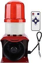 Alarma de advertencia de incendio a prueba de agua, 12-24V Alarma de sirena de bocina de incendio a prueba de agua industrial Altavoz de alarma de advertencia de sonido visual audible Altavoz
