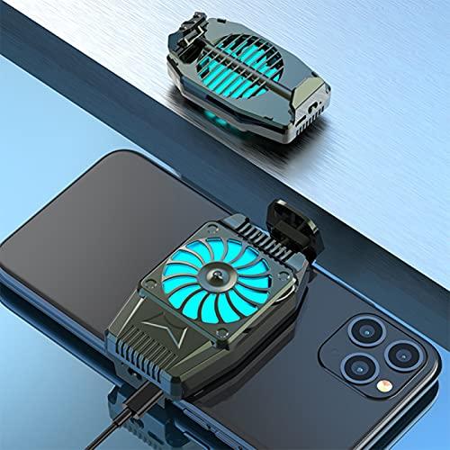 UMSA Teléfono móvil Radiador Fan de refrigeración Mini Portátil Refrigerador de células celulares Radiador Fregadero de Calor para iPhone/Samsung/Xiaomi(Negro)
