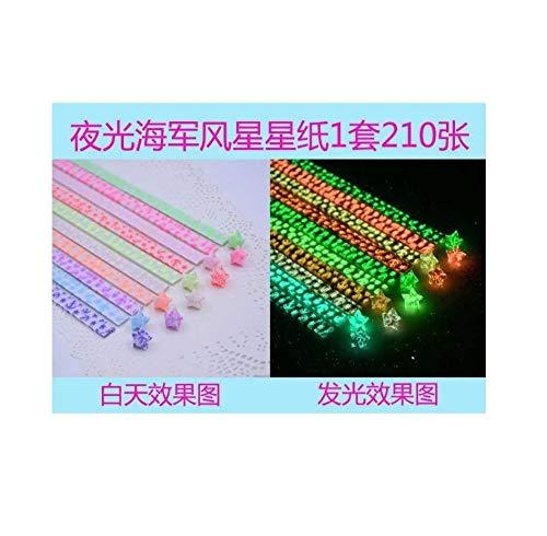 Kleiner Stern Origami Streifen, fertige leuchtende handgemachte 520 Glückssterne, fluoreszierender Stapel Papier-A2