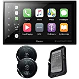 Pioneer DMH-C5500NEX Modular 8'' Capacitive Multimedia Receiver with TS-G1620F 6.5' Speakers and Wireless Qi Phone Charger. Apple CarPlay, Android Auto, Bluetooth, SiriusXM Ready, Maestro with Remote.