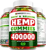 MAXIBEARS Hemp Gummies 400,000 - Promotes Relaxation & Healthy Sleep - Stress, Insomnia & Anxiety...