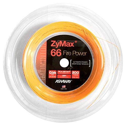 ASHAWAY ZyMax 66Fire Power badminton 200m Spule (orange)