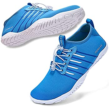 Tomilee Mens Womens Water Shoes Aqua Quick Dry for Beach Swim Pool Diving Surf Shoes Blue 10.5