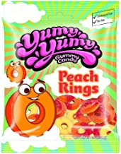 Yumy Yumy Legends, Peach Rings Gummy Candy, 4.5 Oz. (Pack of 12)